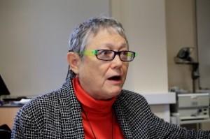 Martha King at Veg Box, answering questions