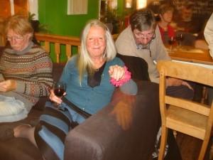 At Veg Bpx, Elaine Randall and Ian Rose (Ian Brinton, right background