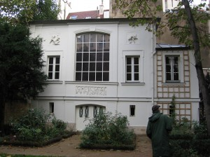 The studio in Delacroix's back yard, Paris, 2013