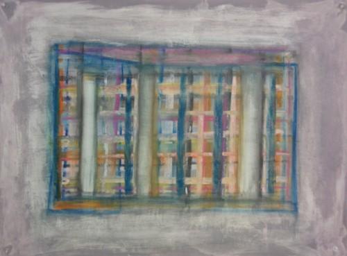 "New work  18"" x 24"" mixed media on Stonehenge paper, Basil King,  2013"