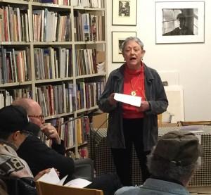 Martha King reading . Photo by Sarah Kaplan.